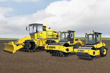 Single Drum Rollers and Soil Compactors - Bomag